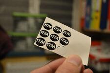 2x Itm 800 3d resin sticker for stem vintage model black 12mm