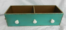 Shabby Chic / Victorian Style Double Drawer Storage Unit with Hooks - BNWT