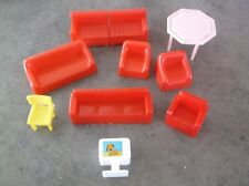 Vtg Lot 56 pcs Superior Doll House Plastic Furniture & Other See More Photos