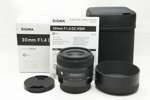 """""""MINT"""" SIGMA Art 30mm F1.4 DC HSM Lens for Canon EOS EF-S Mount w/ Box #210919l"""