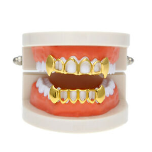 18k Gold Plated Small Single Tooth   Grills Hip Hop Teeth Grill Halloween