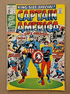Captain America King-Size Special #1 Pin-up intact 1971 FN
