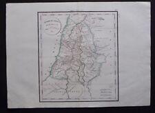 § carte Duodecim Tribus Israelis - Félix Delamarche 1829