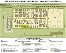 Map.  Auschwitz III Concentration Camp - IG Farben (Monowitz) in December 1944