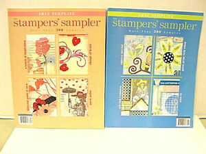 Stamper's Sampler 2 each 2007 & 2008 Issues 490 Card Samples  New