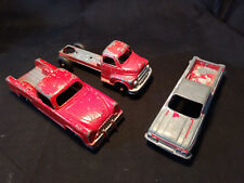 3 Old Red Toy Trucks LOT Irwin, Tootsietoy Chevrolet Camino Made In USA, Etc