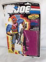 Vintage GI Joe 1986 Zandar Full File Uncut Cardback With Bubble & Weapons