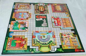 2000 The SIMPSONS CLUE 1st Ed. Replacement GAME BOARD Springfield Locations