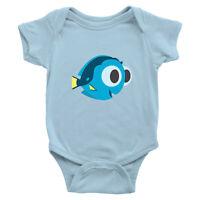 Baby Dory Infant Baby Rib Bodysuit Jumpsuit Romper Newborn Blue Tang Fish Nemo