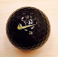 New Mint - Nike One Black 'BOB' Golf Ball - Rare Tiger Woods Ball TW