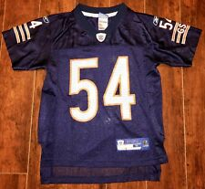 Boys Chicago Bears Jersey Shirt Size 8 Athletic NFL Reebok Urlacher 54