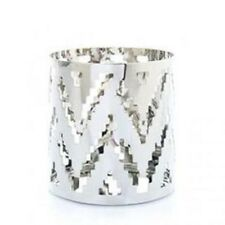Yankee Candle Small Jar Holder Chrome Chevron 1324623 New In Box -