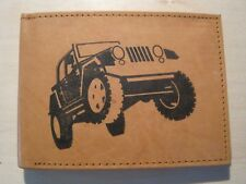 Mens Mankind Leather RFID Wallet w/ JEEP WRANGLER Image & Message (Great Gift)