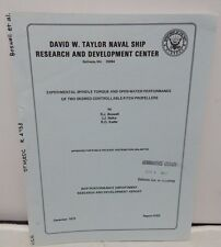 Experimental Spindle Torque & Open Water Performance Two Skewed Book Navy Rare