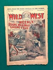 1922 WILD WEST WEEKLY YOUNG BOYS ADVENTURE MAGAZINE - YOUNG  LEADING RAID