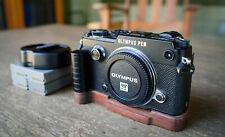 Olympus PEN-F 20.3MP Digital Camera Wood Grip 4 Batteries and Flash - NEAR MINT