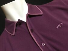 "Mancini  2XL  Chest Measures 48""  Plum Homer Polo Shirt  RRP £89.99"