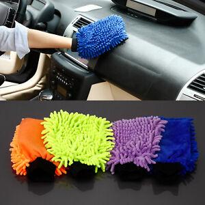4x Car Van Valeting Polish Cleaning Wash Washing Mitt Gloves Cloths Microfibre