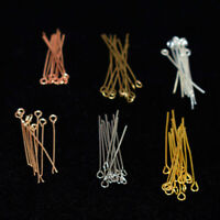 200PCS 16mm-50mm Silver Plated Eye Pins Jewellery Making Findings Craft Beads