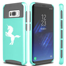 For Samsung S5 S6 S7 Edge S8 + Dual Shockproof Hard Soft Case Cover Unicorn