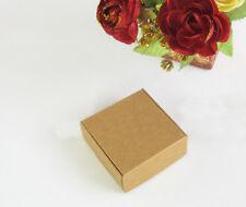 24xKraft Boxes Birthday Wedding Favour Bomboniere Party Candy Boxes 7.5x7.5x3cm