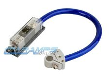 BULLZ AUDIO 1/0 GAUGE AWG WIRE KIT W/ BATTERY TERMINAL ANL HOLDER AND FUSE 0G