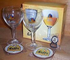 LEFFE BELGIAN GLASSES, COASTERS, OPENER GIFT SET NEW