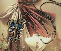 Simple Fashion Retro Vintage Rhinestone Crystal Pendant Long Chain Necklace