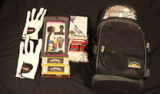 golfers gift pack and cooler golf bag filled with golf goodies read description