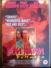 Johnny Depp Marlon Brando DON JUAN DE MARCO ~ 1995 Romántica Drama GB DVD