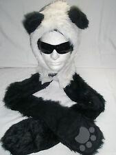 Super Faux Fur Animal Hat & Hand Pockets Warm Cozy