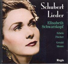 CD SCHUBERT LIEDER ELISABETH SCHWARZKOPF EDWIN FISCHER GERALD MOORE & BONUS