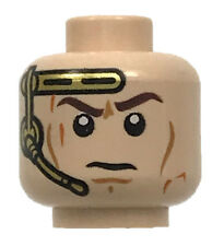 LEGO NEW LIGHT FLESH MINIFIGURE HEAD DUAL SIDED GOLD HEADSET PILOT PIECE