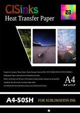 """50 Sheets A4 8.3""""x11.7"""" 100gsm Sublimation Transfer Paper for Specialty Printing"""