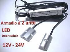 Interruttore sensore LED Apertura Doppia Anta armadio 12V - 24V strisce switch