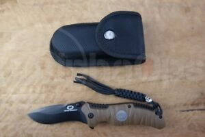 New WithArmour Eagle Claw Folding Pocket Knife Survival Rescue Sheath Tan 440C