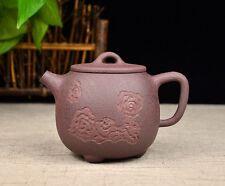 """Chinese Yixing Zisha Clay Handmade """"Xiangyun Shipiao"""" Teapot 230cc"""