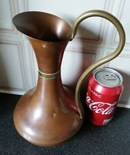 A Vintage Copper/Brass Vase/Watering Pot.H-25xP-43cm/W-330g.Squeezed,Collectible