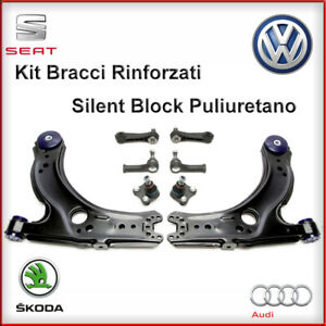 Kit Bracci Sospensione + Testine + Biellette VW BORA GOLF 4 IV RINFORZATI ANTERI