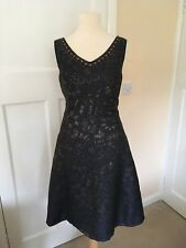 NWOT Monsoon Beaded Embellished Metallic Evening Dress Size 8