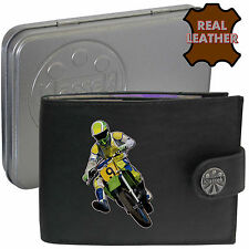 Motocross Rider Moto Racing klassek Leather Wallet Accessorio Regalo Di Latta