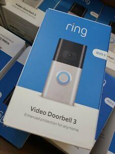 Ring Doorbell 3 8VRSLZ-0EN0 Video Door Bell - Satin Nickel/Venetian Bronze.