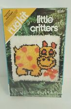 Vintage Spinnerin Little Critters Little Hippo Latch Hook Kit 9331 Hippopotamus