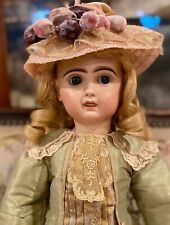 "20"" Antique French C1880 Bisque Jumeau Bebe Dressed Beautifully"