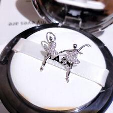 Exquisite Cute 925 Silver Ballet Earrings Girls Dance Rhinestone Stud Earrings
