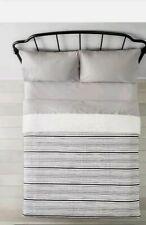 Hearth & Hand/ Magnolia/Textured/ Stripe/ Full/Queen /Black/White/