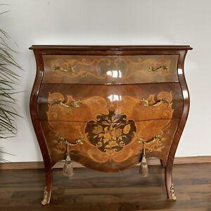 Alte Kommode im Stil des Barocks | Furniert mit Einlagearbeiten |Manufaktur