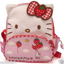 Hello Kitty Girl Red Strawberry Cute Pre-School Rucksack Back Pack Bag KK433