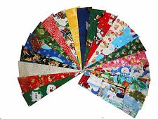 "40 2.5X10 "" Quilting RAIL FENCE STRIPS Beautiful Christmas Medley Free Shipping"