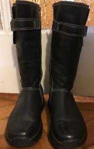 MBT Goti Boot Women size UK 4 Black Leather